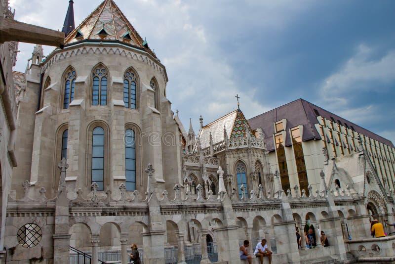 Scène in Boedapest, Hongarije royalty-vrije stock afbeeldingen