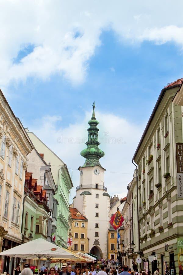 Scène in Bratislava, Slowakije stock foto's