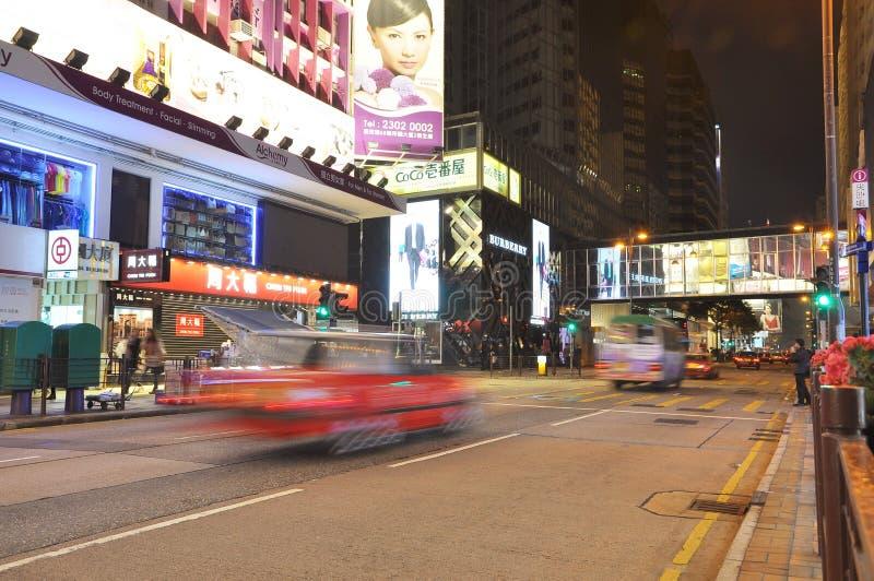 Scène centrale de nuit de Hong Kong photos libres de droits