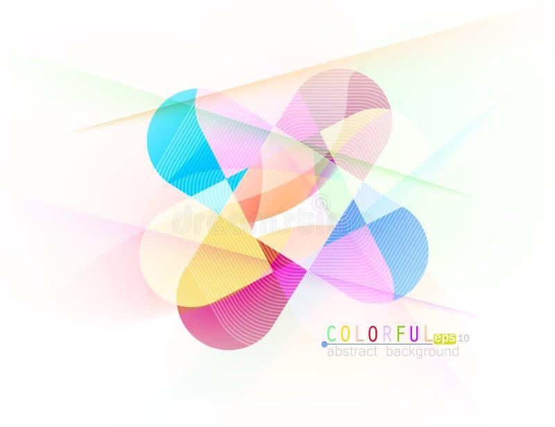 Scène colorée d'abrégé sur courbe illustration libre de droits