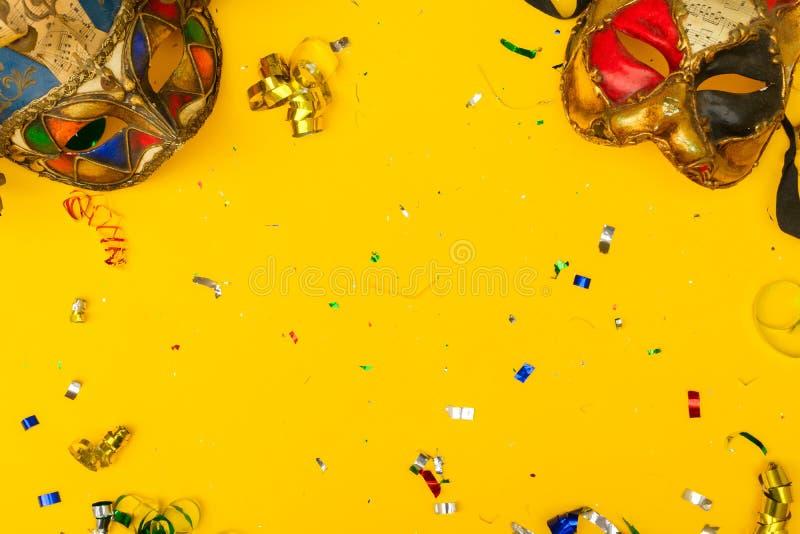 Scène colorée lumineuse de carnaval ou de partie photos libres de droits