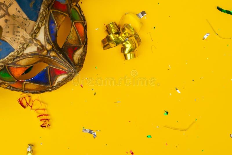 Scène colorée lumineuse de carnaval ou de partie image libre de droits