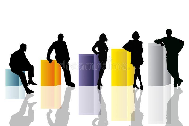 Scène conceptuelle d'affaires illustration stock