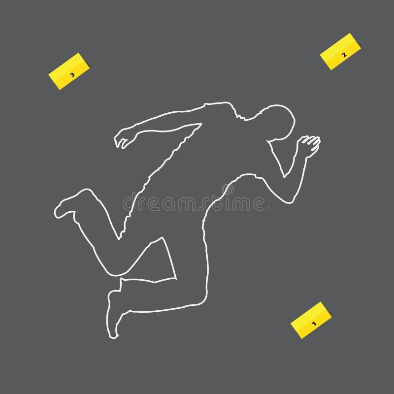 Scène criminelle illustration stock