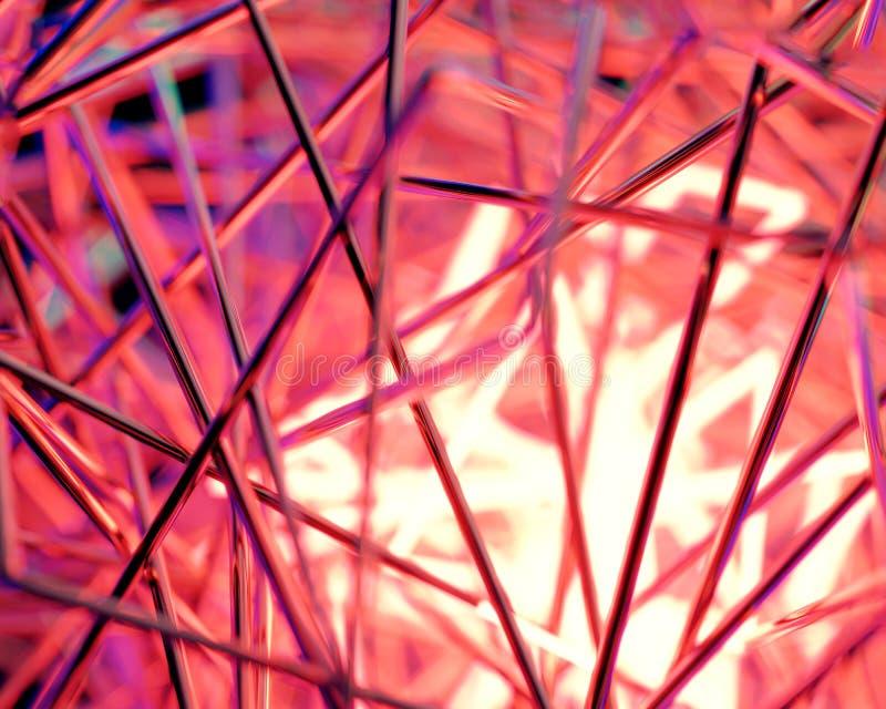 Scène 3d abstraite avec les lampes au néon photographie stock