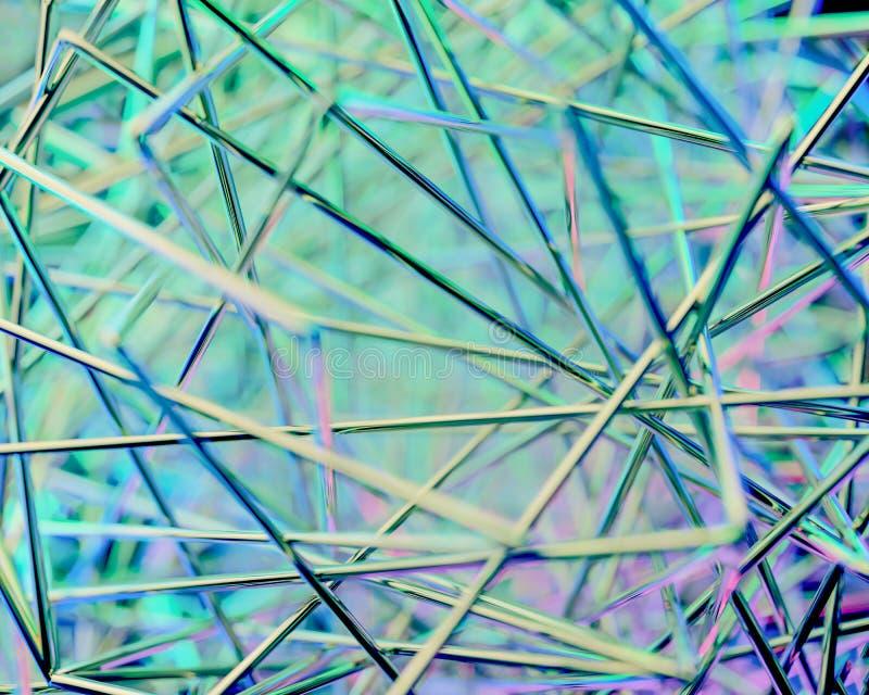 Scène 3d abstraite Métal et couleur photos libres de droits