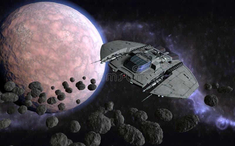 scène 3d cosmique illustration stock