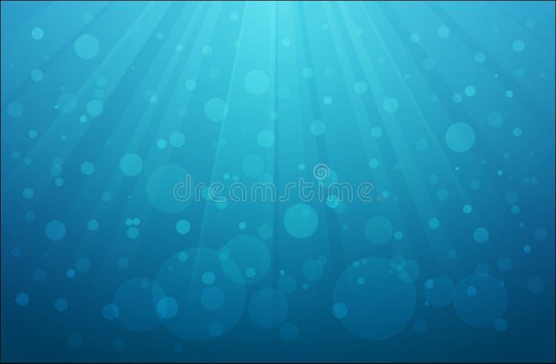 Scène d'eau du fond illustration stock