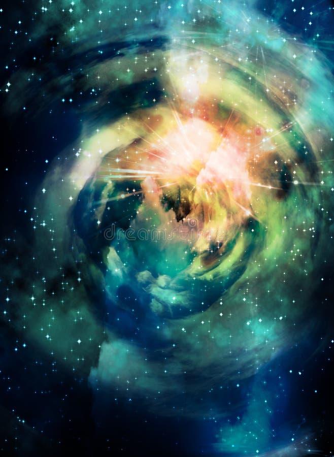 Scène d'espace lointain illustration de vecteur