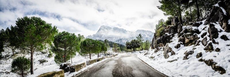 Scène d'hiver à Grazalema, Cadix images stock