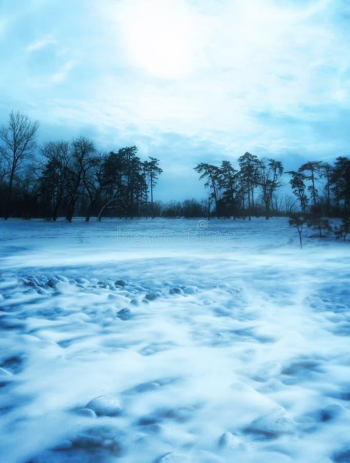 Scène d'hiver photographie stock