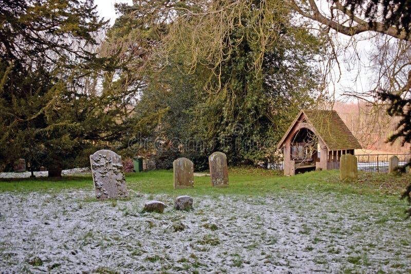 Scène d'hiver de Milou dans la campagne de Kent images libres de droits