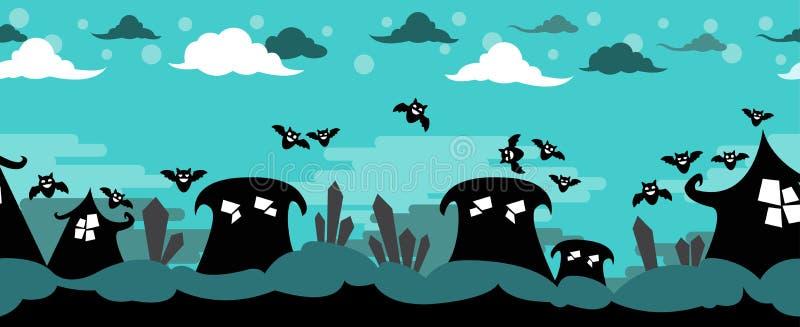 Scène d'horreur de vecteur de Halloween illustration de vecteur