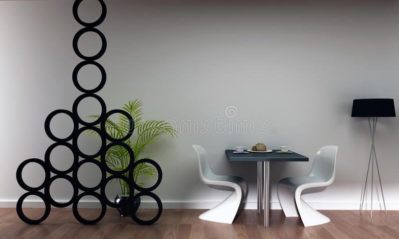 sc ne d 39 int rieur de caf de restaurant de bar illustration stock illustration du lampe. Black Bedroom Furniture Sets. Home Design Ideas