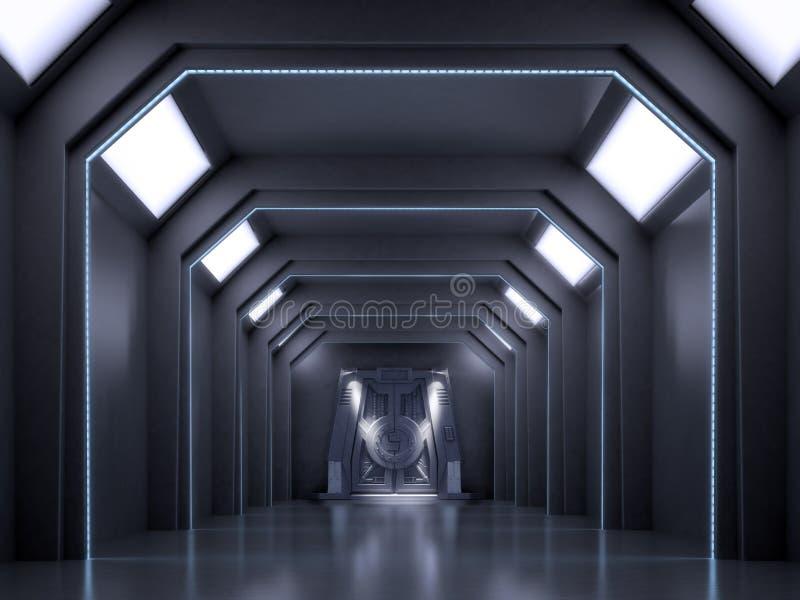 Scène d'intérieur de la science-fiction image stock