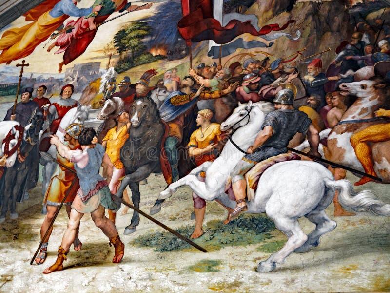 Scène de bataille, peignant à Vatican image libre de droits