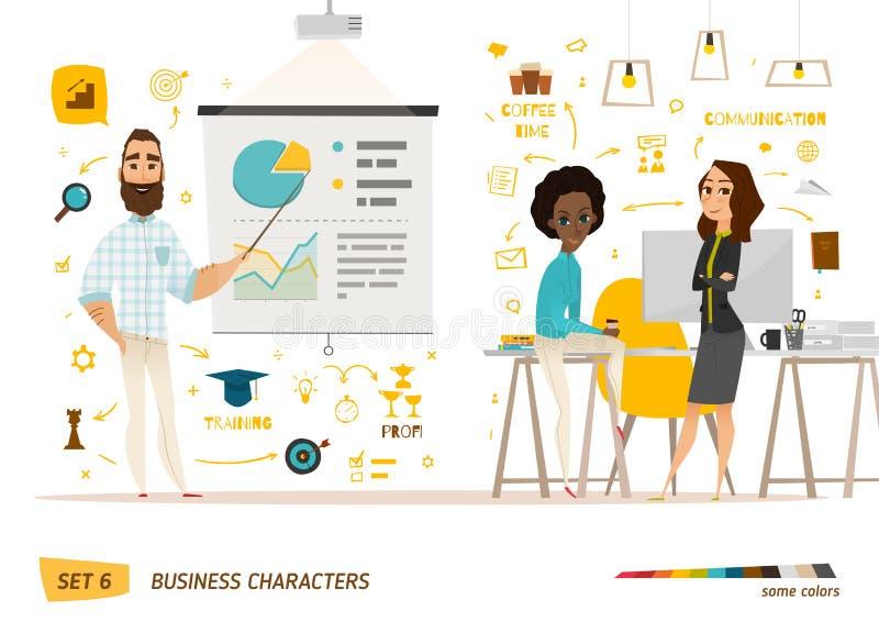 Scène de caractères d'affaires illustration libre de droits