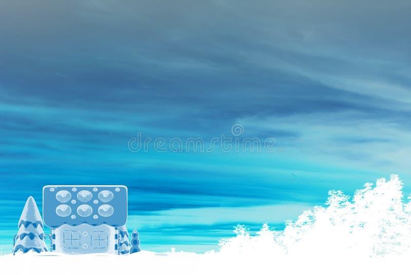 Scène de Chambre de pain d'épice de l'hiver illustration de vecteur
