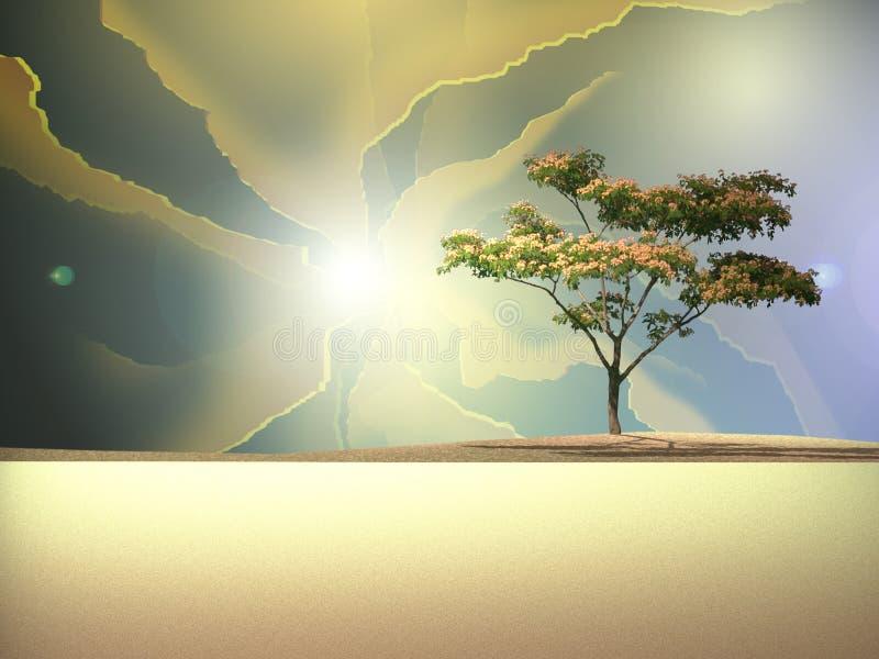 Scène de désert illustration libre de droits