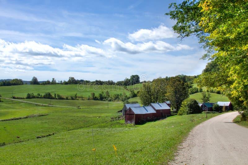 Scène de ferme du Vermontn photographie stock libre de droits