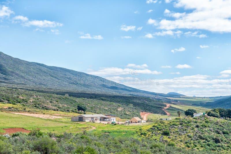 Scène de ferme près de Clanwilliam dans la province du Cap-Occidental image libre de droits