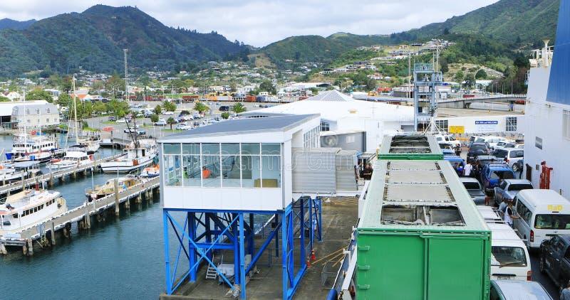 Scène de ferry, sud vers l'île du nord, Nouvelle-Zélande photo libre de droits