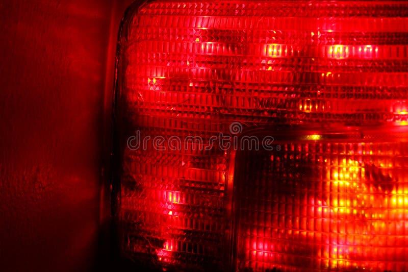Scène de feu arrière de voiture photos stock