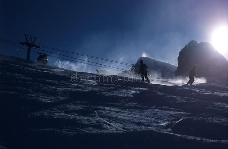 Download Scène de l'hiver photo stock. Image du skieurs, skieur, coup - 92136