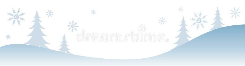 Scène de l'hiver de Milou illustration libre de droits