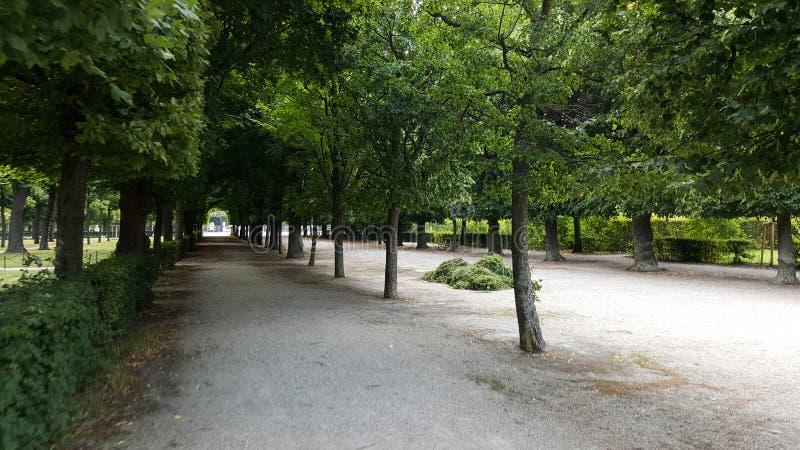 Scène de l'intérieur des jardins de palais de Schönbrunn photographie stock