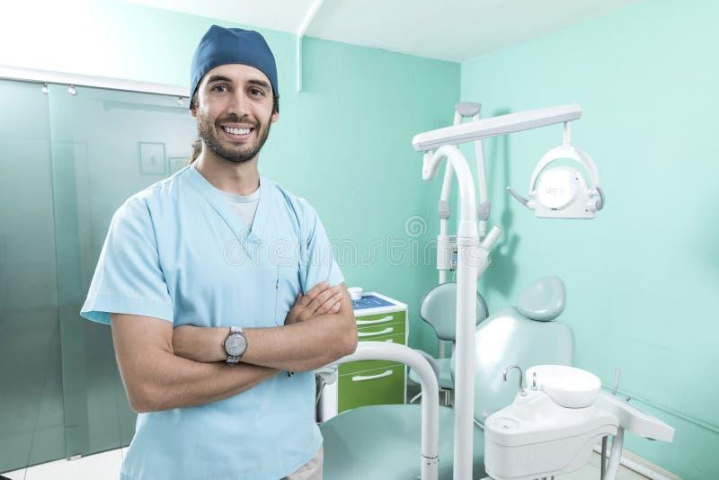 Scène de mode de vie de bureau de dentiste desaturated images libres de droits