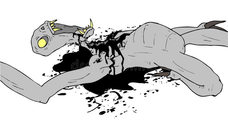 Scène de monstre d'horreur illustration de vecteur