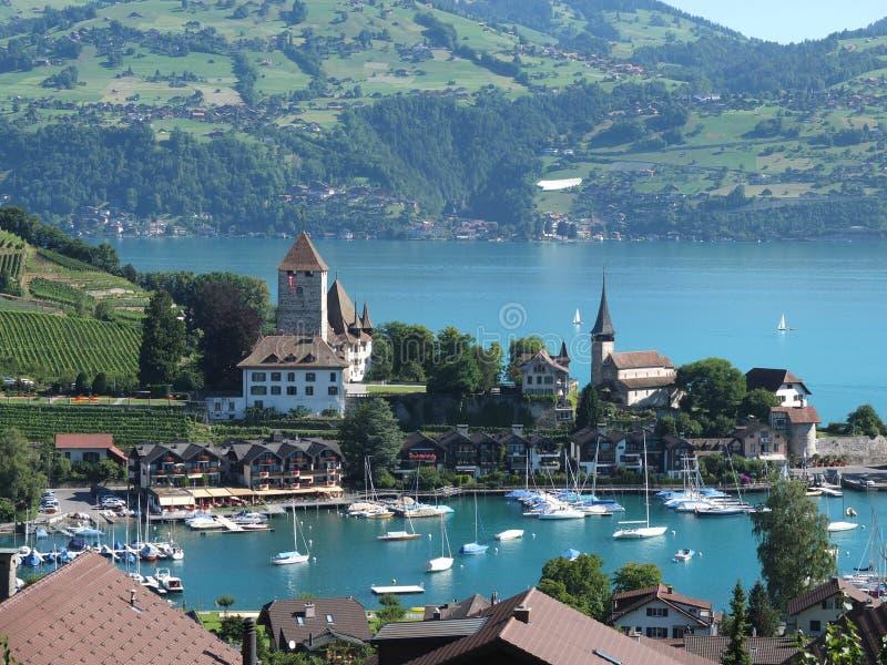 Scène de montagne, Spiez, Suisse photos libres de droits
