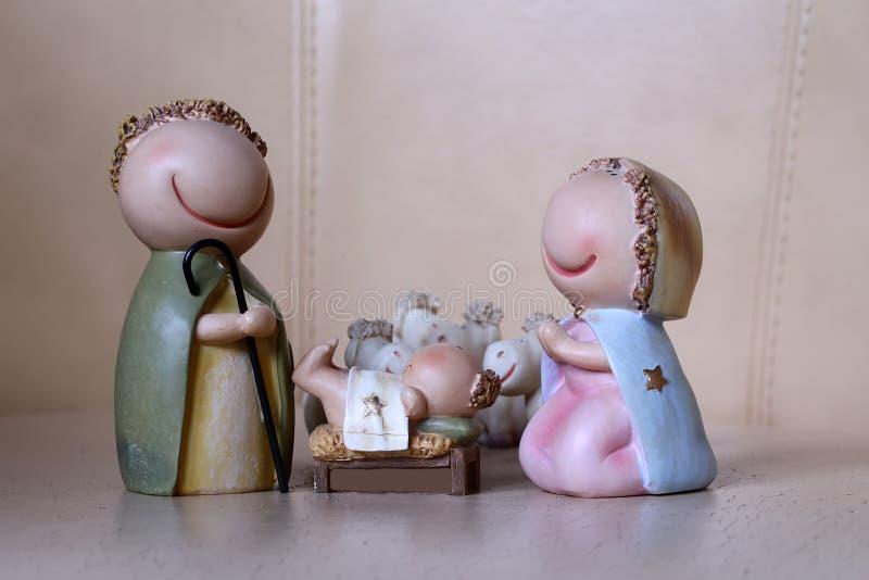 Scène de naissance de Jésus photographie stock