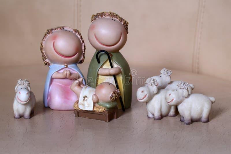 Scène de naissance de Jésus photo libre de droits