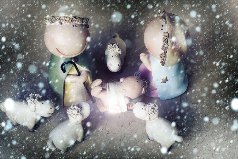 Scène de naissance de Jésus image stock
