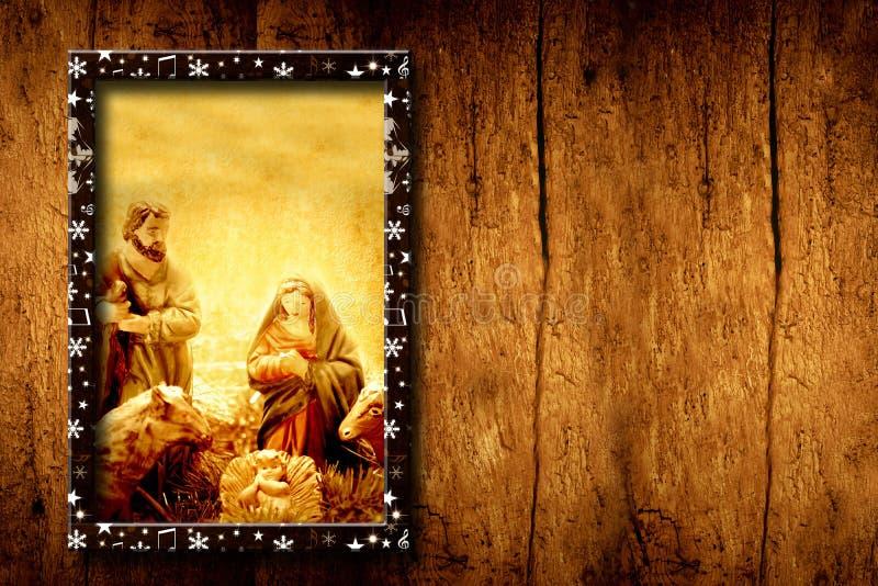 Scène de nativité de calibres de Chrristmas image libre de droits