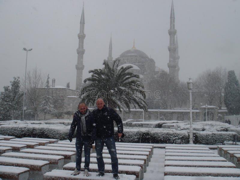 Scène de neige à Istanbul photo libre de droits