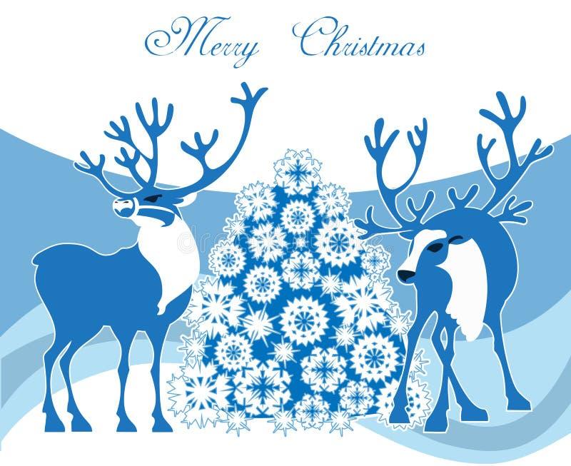 Scène de Noël d'hiver illustration de vecteur