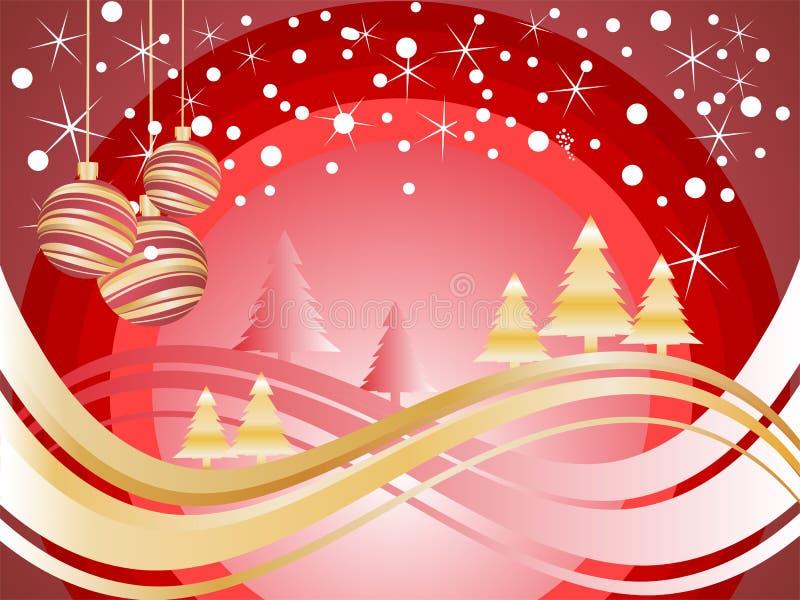 Scène de Noël/hiver illustration de vecteur