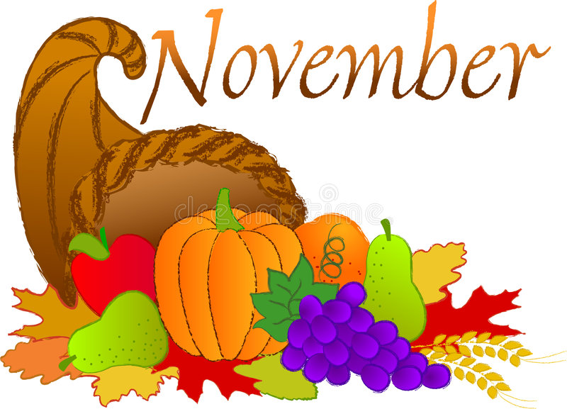 Scène de novembre illustration libre de droits