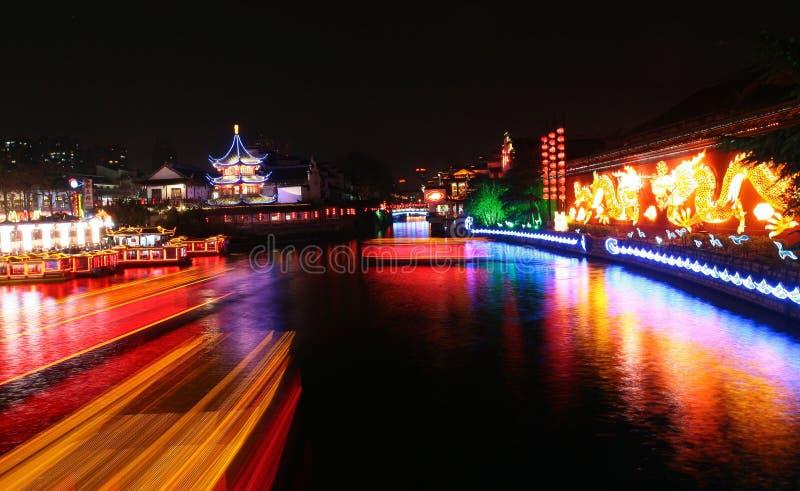 Scène de nuit à Nanjing images libres de droits