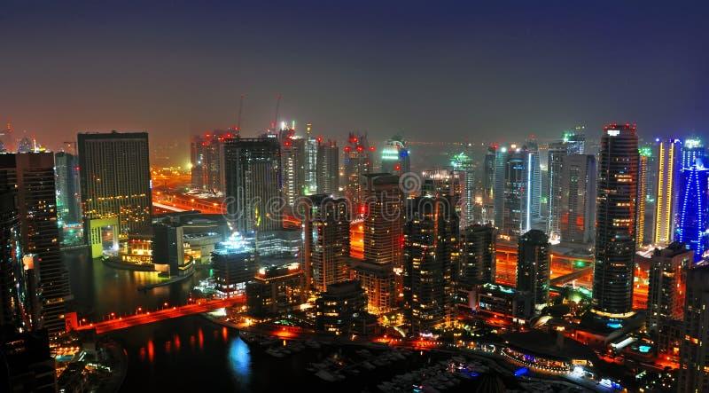 scène de nuit de 3 Dubaï image libre de droits