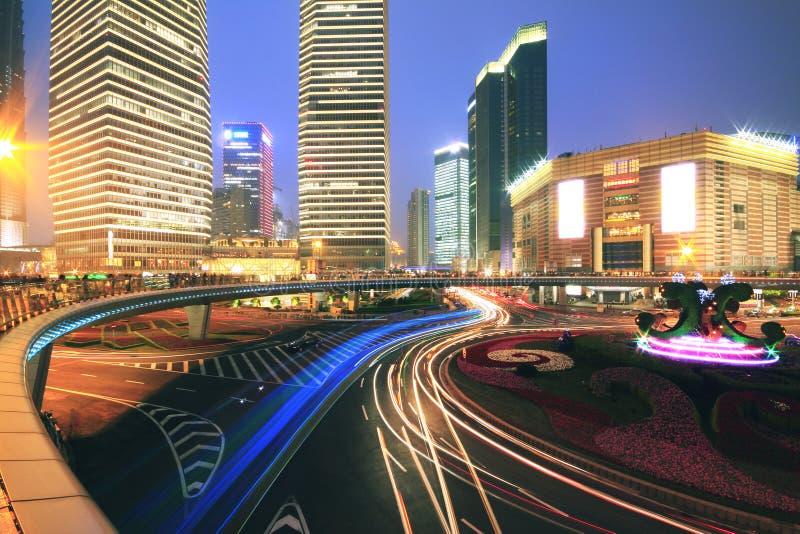 Scène de nuit de Changhaï photos libres de droits