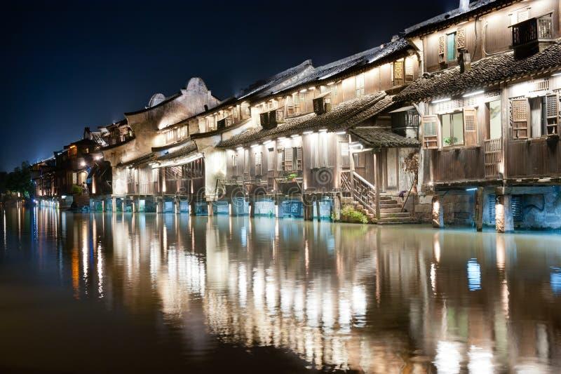 Scène De Nuit De Construction De Village De La Chine Image stock ...