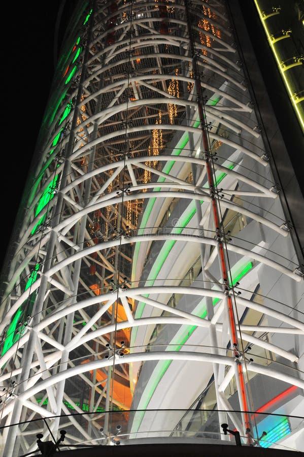 Scène de nuit de gratte-ciel photographie stock libre de droits