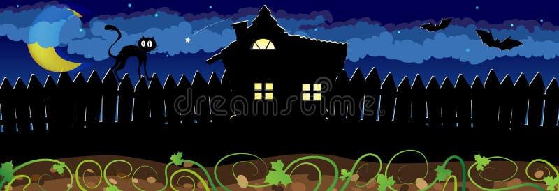 Scène de nuit de Halloween illustration libre de droits