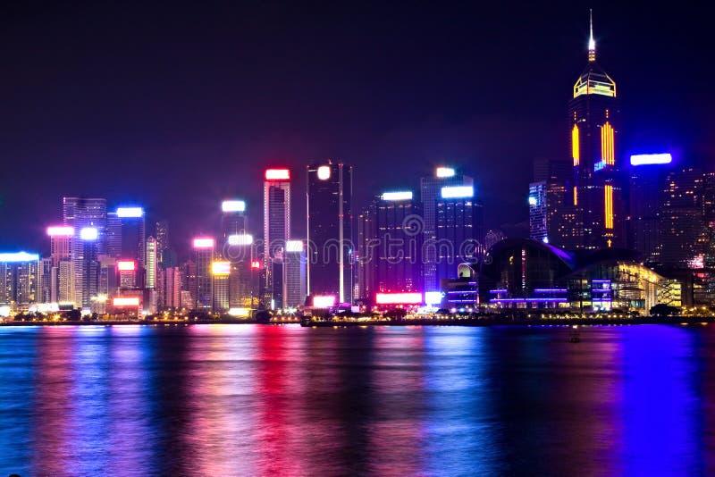 Scène de nuit de Hong Kong image stock