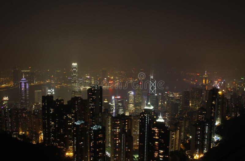 Scène de nuit de Hong Kong photos stock
