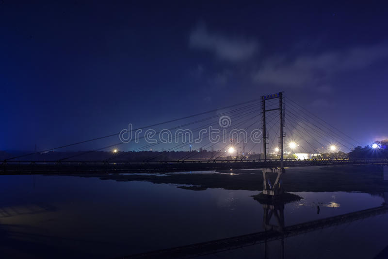Scène de nuit de Kakanad Kerala photo stock